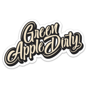 Green Apple Dirty Sticker